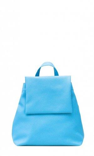 Blue Mini Flap Backpack