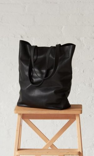 Brandy Leather Tote Bag
