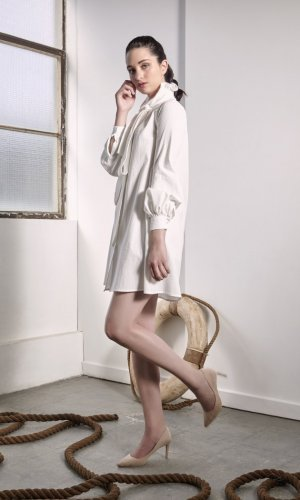 Provence White Shirt Dress