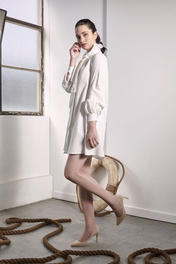 Provence White Shirt Dress