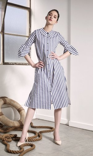 Ashbury Striped Midi Dress