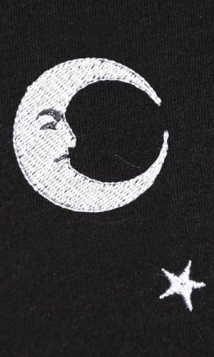 Midnight Moon Embroidered T-Shirt