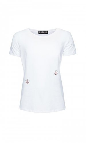 white ladybird organic cotton T-Shirt