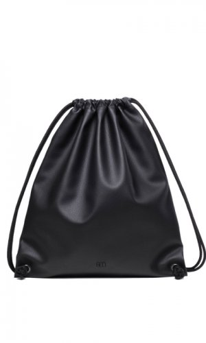 Black Drawstring Backpack
