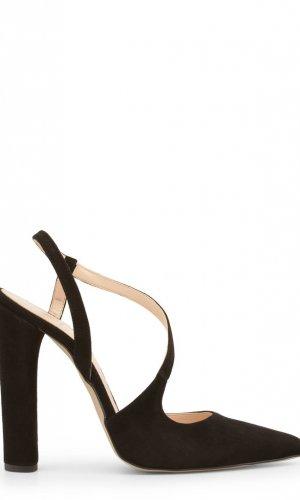 suede black sandals