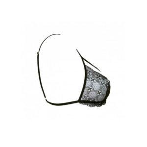 Black lace bra side view