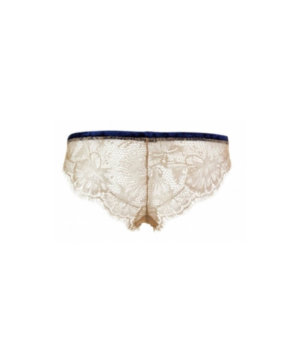 Gold lace knickers back