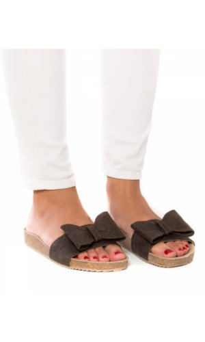 Monik Brown Flat Sandal