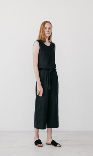 Camilla Black Cropped Pants