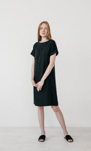 Cecilia Black T-shirt Dress