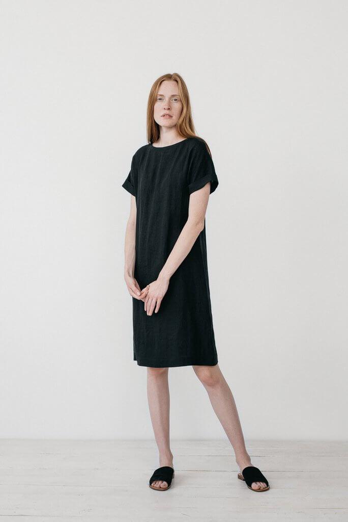 Cecilia Black T-shirt Dress