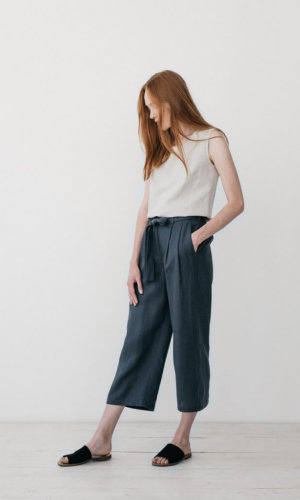 Camilla Grey Cropped Pants
