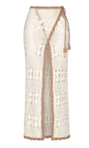 Beige Adele Wrap Skirt