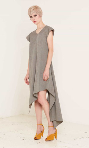 Heather Grey Asymmetric Dress