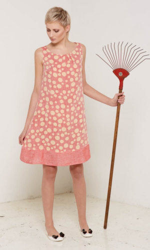 Arabella Pink Polka Dot Dress