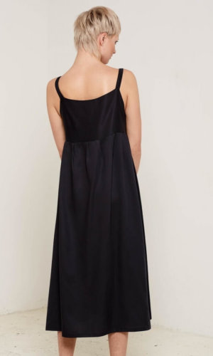 Juliet Black Midi Dress