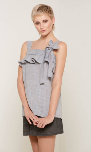 Lilliana Blue Ruffle Top