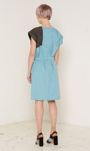 Elara Turquoise Tie Waist Dress