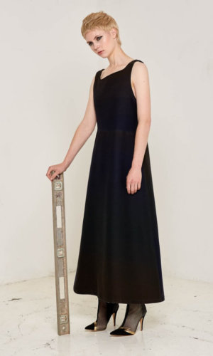 Felberta Asymmetric Maxi Dress