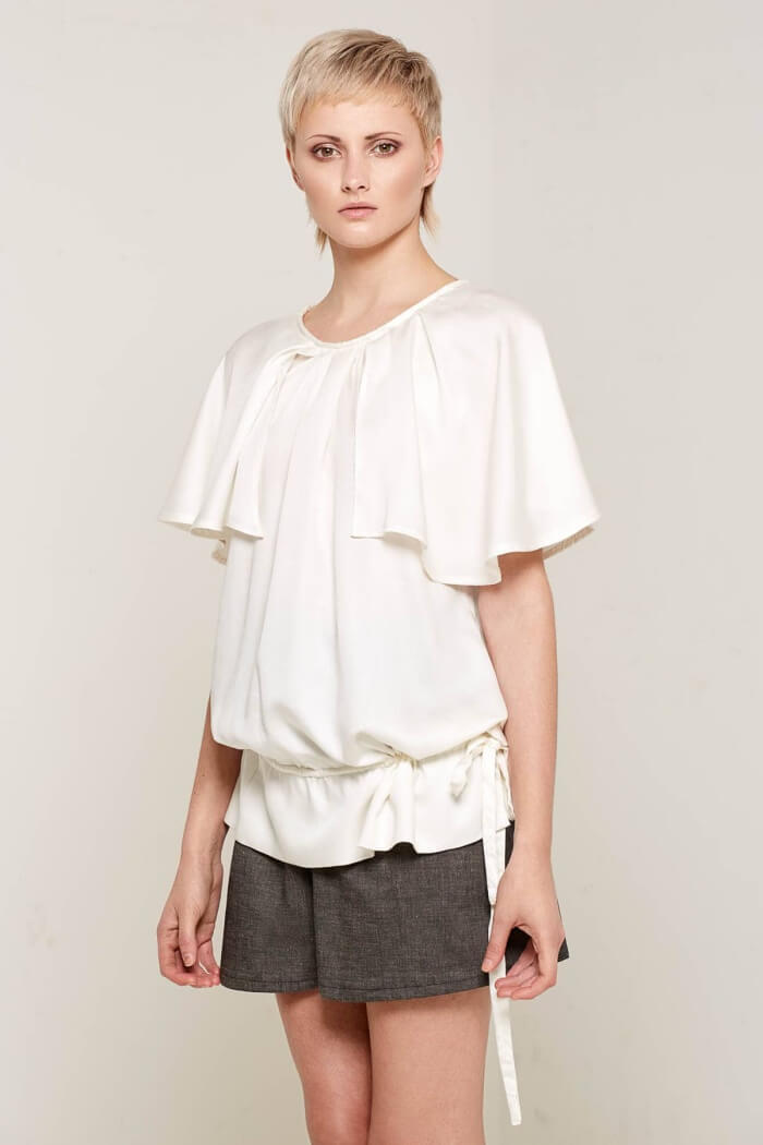 Christabel White Flared Top