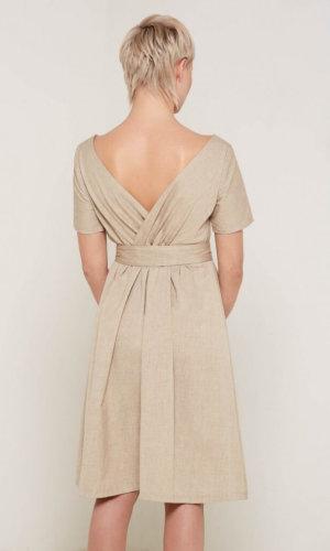 Celestia Beige Dress