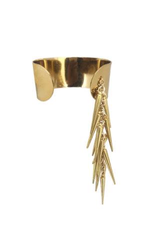 Cluster Spike Gold Cuff