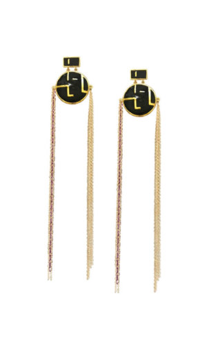 Double Tassel Earrings.