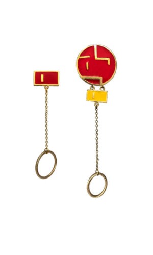Round Maze Mismatch Earrings