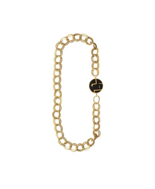 Black Maze Chunky Necklace