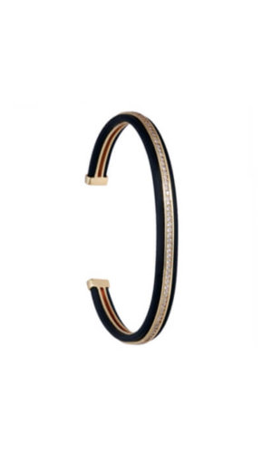 Gold Black Stackable Bracelet