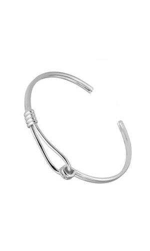 Silver Latch Bracelet