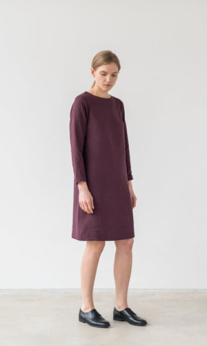 Burgundy Oversized Dress