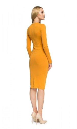 Yellow Bodycon Midi Dress