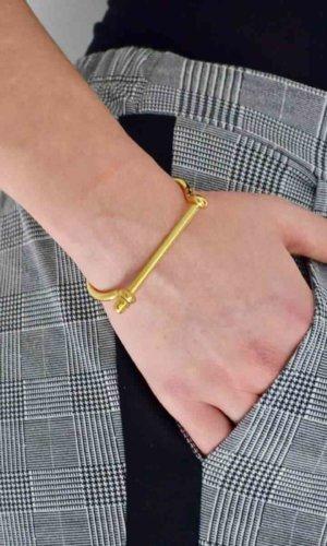 Gold Crystal Screw Cuff