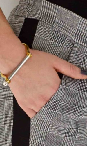 Gold Silver XL Screw Cuff