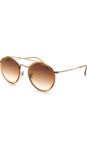 Round Double Bridge Raybans