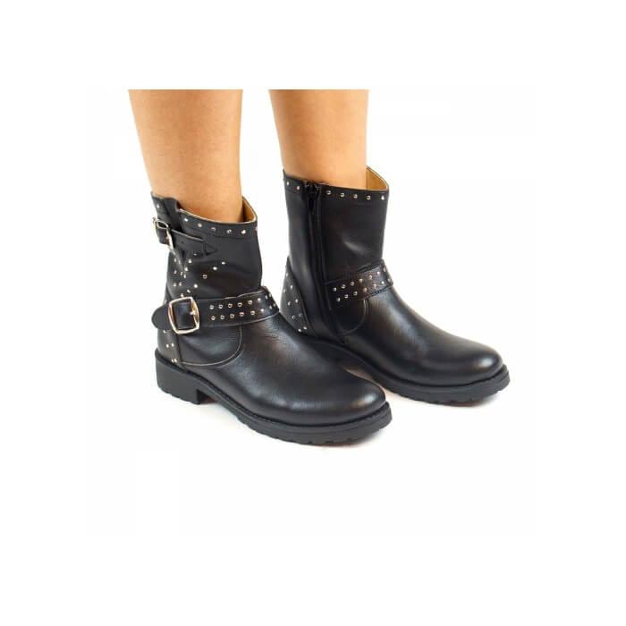 Black Biker Boot