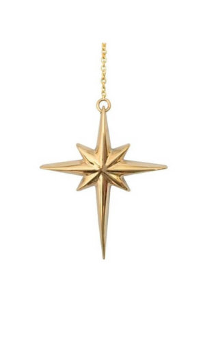 Gold North Star Necklace