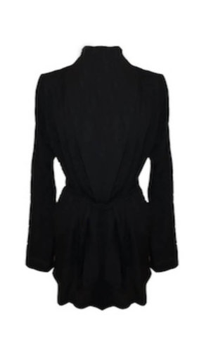 Venice Black Silk Robe