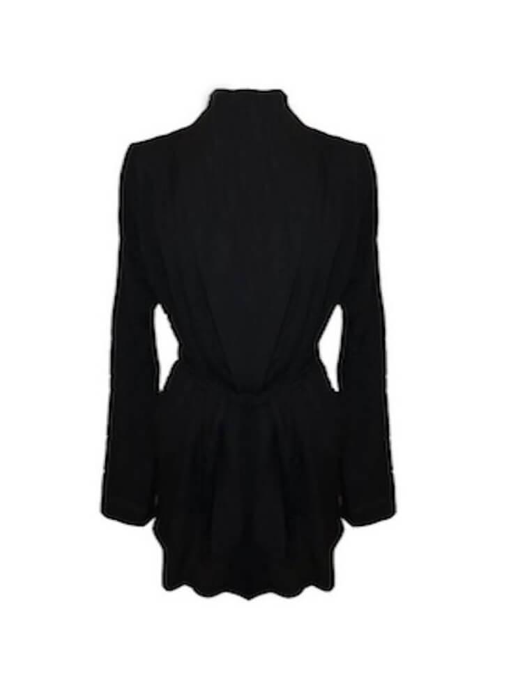 Venice Black Silk Robe