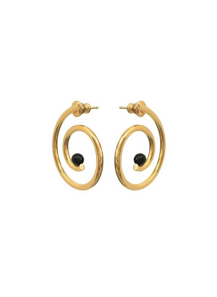 Spiral Gold Earrings