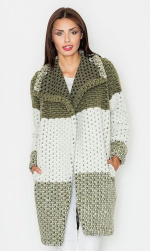 Figl Green Knit Coat