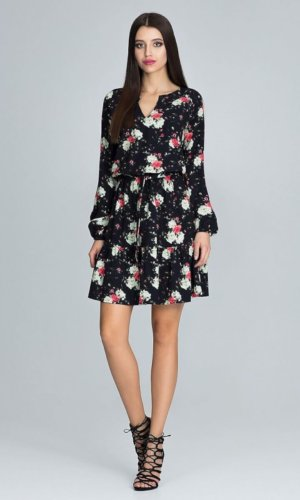 Figl Tie Waist floral mini dress