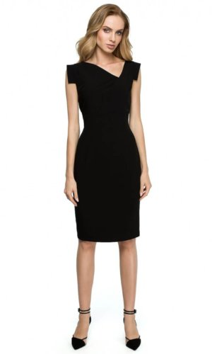 Black Cocktail Midi Dress