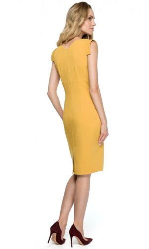 Yellow Midi Cocktail Dress