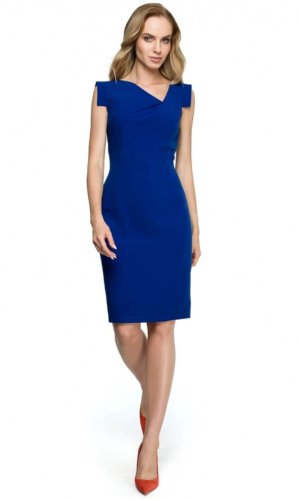 Blue Cocktail Midi Dress