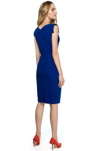 Blue Midi Cocktail Dress