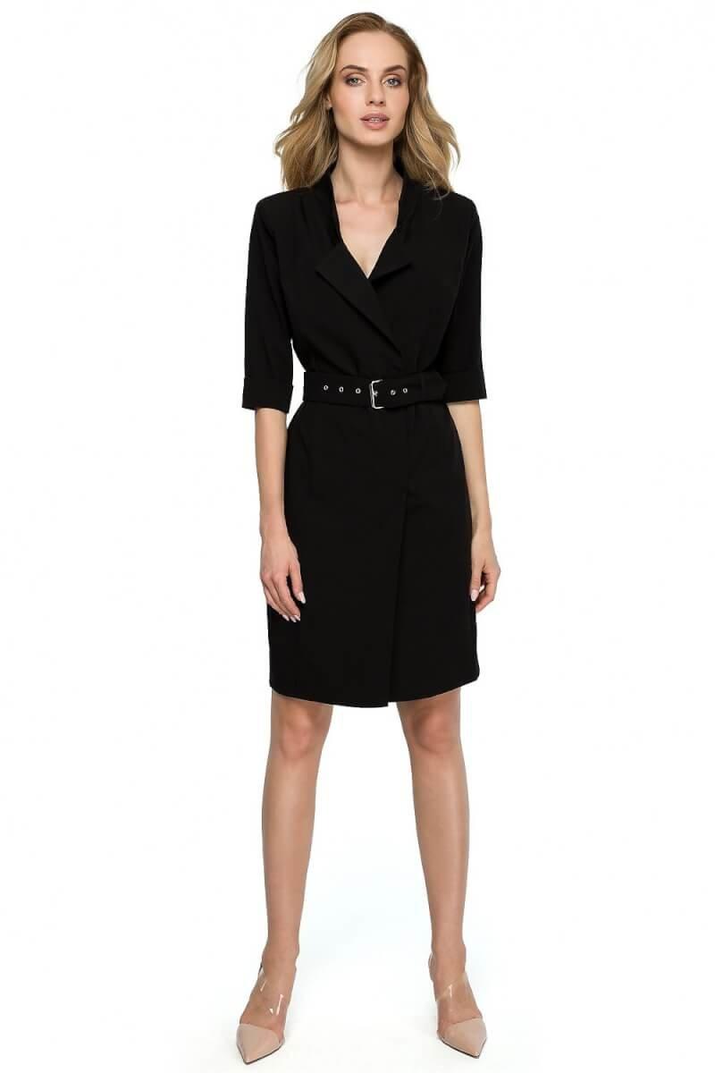Black Midi Blazer Dress