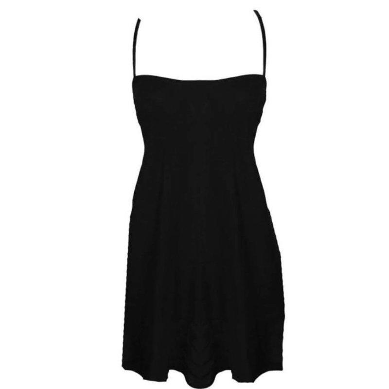 black slipdress