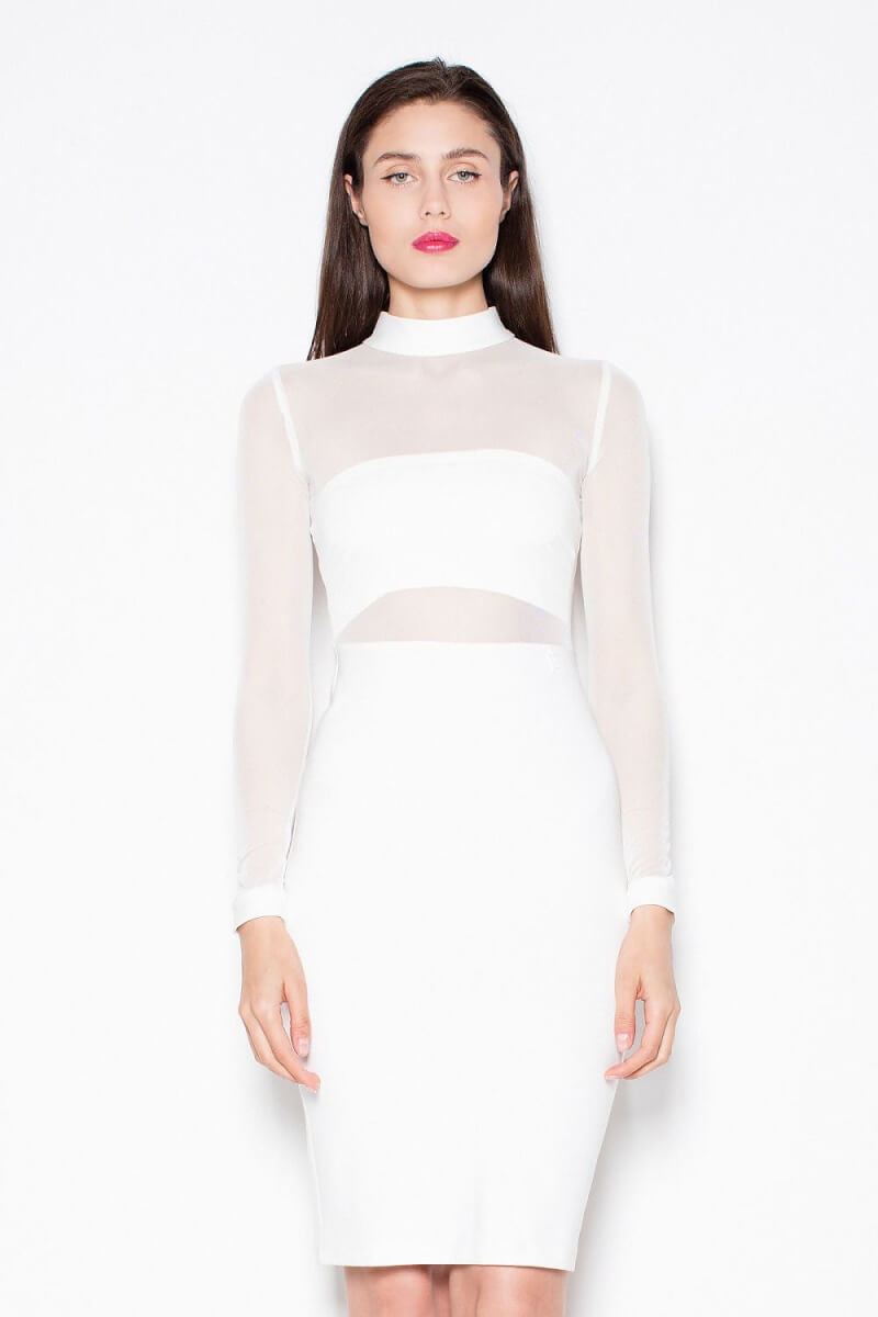 White Midi Bodycon Dress